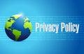 Ejemplo internacional de la muestra de la política de privacidad Imagenes de archivo