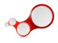 Ejemplo rojo de la conexión de vínculos del círculo Foto de archivo