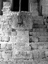 Ek balam mayan ruins relief images in stucco in yucatan mexico Royalty Free Stock Images