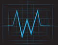 Ekg grid with blue lines Stock Photo