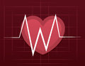 Ekg heart grid with large Stock Photo