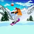 Ekstremum skiing winter sport Obraz Stock