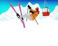 Ekstremum skiing winter sport Fotografia Royalty Free