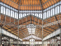 El born market ceiling barcelona spain october the ceilings of the famous mercat del in the barcelona the former is famous now Royalty Free Stock Photography
