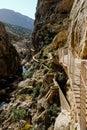 El Caminito del Rey in the El Chorro gorge near Malaga, Spain Royalty Free Stock Photo
