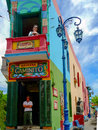 El caminito little walkway or little path in spanish is a street museum and a traditional alley located in la boca a neighborhood Royalty Free Stock Photo