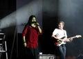 El cantante indio Sunidhi Chauhan se realiza en Bahrein Foto de archivo libre de regalías