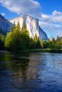 El Capitan and the Merced River Royalty Free Stock Photography