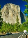 El Capitan view from Yosemite Valley Floor Royalty Free Stock Photo