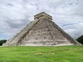 El castillo in chichen itza step pyramid named the archaeological site yucatan mexico Royalty Free Stock Image