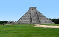 El castillo in chichen itza step pyramid named the archaeological site yucatan mexico Royalty Free Stock Photo