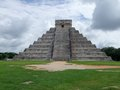 El castillo in chichen itza step pyramid named the archaeological site yucatan mexico Royalty Free Stock Images