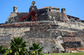 El castillo de felipe fortress in cartagena columbia Royalty Free Stock Images