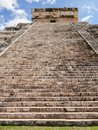 El Castillo pyramid in the ancient mayan ruins of Chichen Itza, Yucatan peninsula Mexico Royalty Free Stock Photo