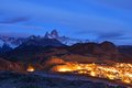 El Chalten and Fitz Roy Royalty Free Stock Photo