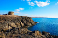 El cotillo toston tower fuerteventura canary island castle in at islands of spain Royalty Free Stock Images
