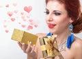 El day holiday de la tarjeta del día de san valentín Foto de archivo libre de regalías