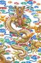 El dragón en el fondo blanco Imagen de archivo libre de regalías