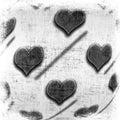El fondo de la tarjeta del da de san valentn con los corazones Fotos de archivo