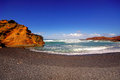 El golfo bay western lanzarote canary islands spain Royalty Free Stock Photo