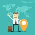 El hombre de negocios work y viaje Imágenes de archivo libres de regalías