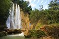 El Limon waterfall Royalty Free Stock Photo