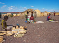El molo people sells traditional souvenirs lake turkana kenya january january near lake turkana kenya the are one of the Stock Photos