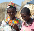 El molo women  near lake Turkana Royalty Free Stock Photo