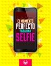 El momento perfecto 拉una selfie 免版税库存图片