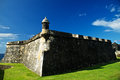 El morro bastion in san juan a puerto rico photoed on dec Royalty Free Stock Photos