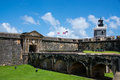 El morro fortress called in old san juan puerto rico Royalty Free Stock Photography