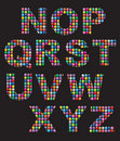 El mosaico del color abotona alfabetos Fotos de archivo libres de regalías