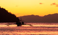 El nido bay evening at the Royalty Free Stock Image