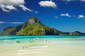 El nido bay philippines and cadlao island palawan Royalty Free Stock Image
