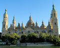 El Pilar Basilica in Zaragoza, Spain Royalty Free Stock Photo