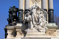 El Progreso Statue in Retiro Park Royalty Free Stock Image