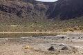 El sod crater lake ethiopia and salt Royalty Free Stock Photo
