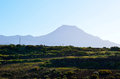 El teide and dry vegetation tenerife Stock Photo