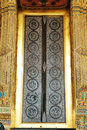 Elaborate buddhist door at Wat Phra Kaew Temple Stock Photos