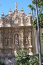 Elaborate churrigueresque ornamentation of spanish baroque style on casa del prado in balboa park san diego Royalty Free Stock Photography