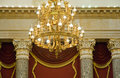 Elaborate gold chandelier Stock Photography