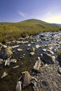 The elan valley cambrian mountains area of outstanding natural b Stock Photography