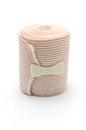 Elastic ace compression bandage warp unwrapped isolated Royalty Free Stock Photo