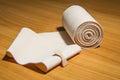 Elastic bandage medical cotton Royalty Free Stock Photo