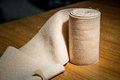 Elastic bandage medical cotton Royalty Free Stock Photo