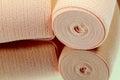 Elastic bandage roll. Royalty Free Stock Photo
