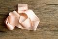 Elastic bandage on wooden background Royalty Free Stock Images