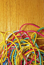 Elastic bands may be used as a background Stock Photo