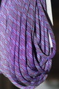 Elastic ropes close up detail of a reel of purple Stock Photography
