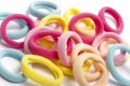 elastic rubber bands for hair Royalty Free Stock Photo